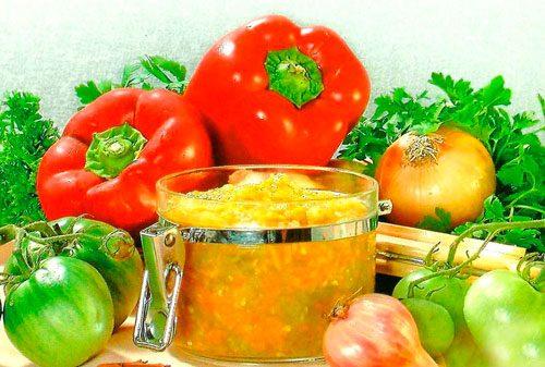 рецепт икры из помидор