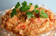 Рецепт заготовки овощной икры