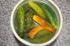 Малосольные огурцы с горчицей и перцем