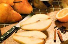 Маринованные груши с корицей