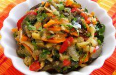 Салат из баклажанов на зиму «Быстрый»