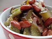 рецепт салата с фасолью на зиму
