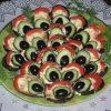Закуска Павлиний хвост из баклажан