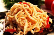 Кальмары по-корейски: рецепт