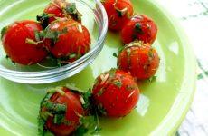 Заготовка маринованных помидор быстрого приготовления