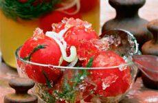 Как заготовить помидоры в желе на зиму