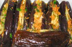 Фаршированные баклажаны по-корейски: оригинальный рецепт