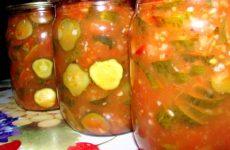 Огурцы в томатном соусе: заготовка на зиму