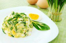 Салат из черемши, несколько вкусных рецептов
