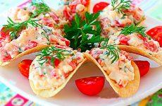 Закуски на чипсах: оригинально и вкусно