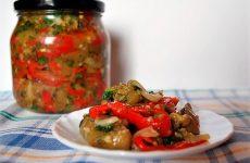 Салат Десяточка на зиму: консервируем баклажаны и томаты
