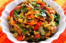 Салат Тещин язык на зиму, вкусная овощная закуска