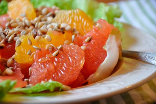 фруктовый салат с грейпфрутом