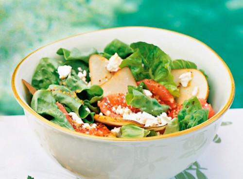 салат с грушей и грейпфрутом