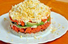 Новогодний салат «Семга под шубой»