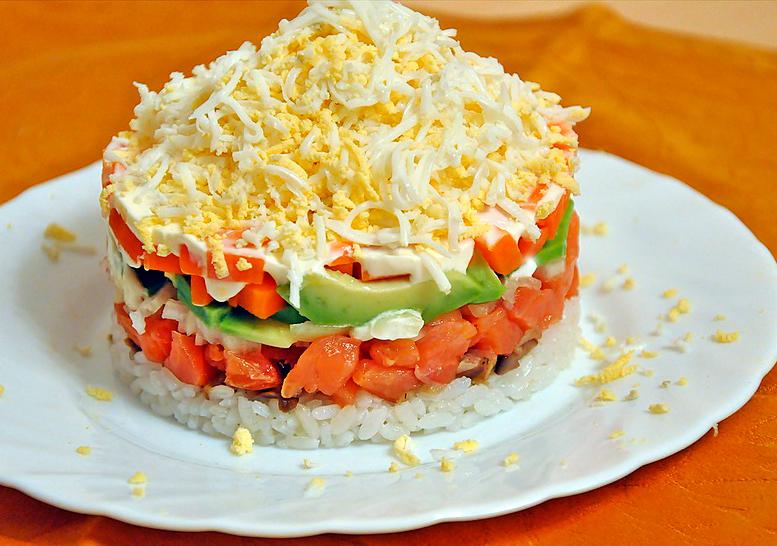 Салат с семгой  рецепты с фото на Поварру 62 рецепта