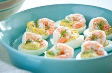 Холодные закуски из яиц к празднику