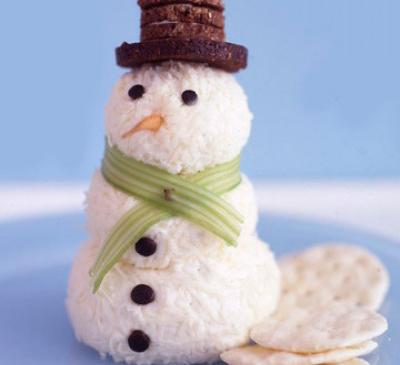 сырный снеговик