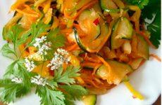Салат из кабачков по-корейски на зиму и к праздничному столу
