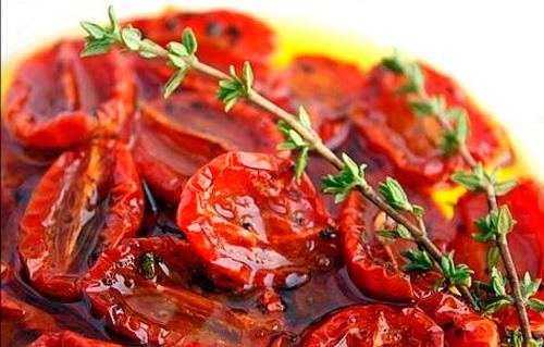 Рецепты сушеными помидорами фото