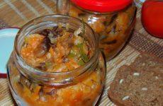 Грибная солянка с капустой на зиму