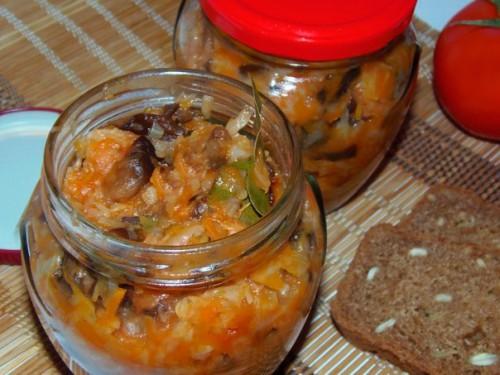 солянка в мультиварке из капусты с грибами на зиму