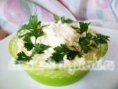 салат с плавленными сырками