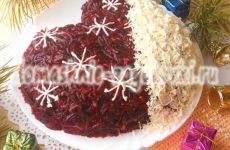 Новогодний салат «Рукавичка деда Мороза»