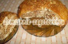 Как приготовить блинный пирог с курицей