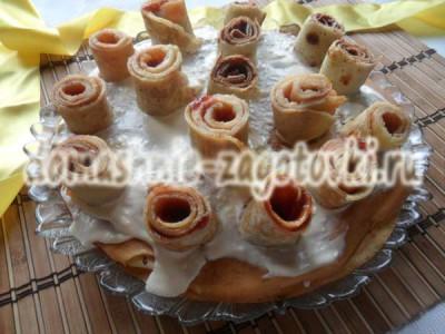 блинный торт с кремом рецепт