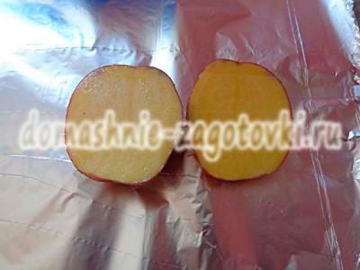 картофель пополам