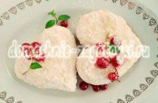 Творожное пирожное в виде сердца, рецепт с фото