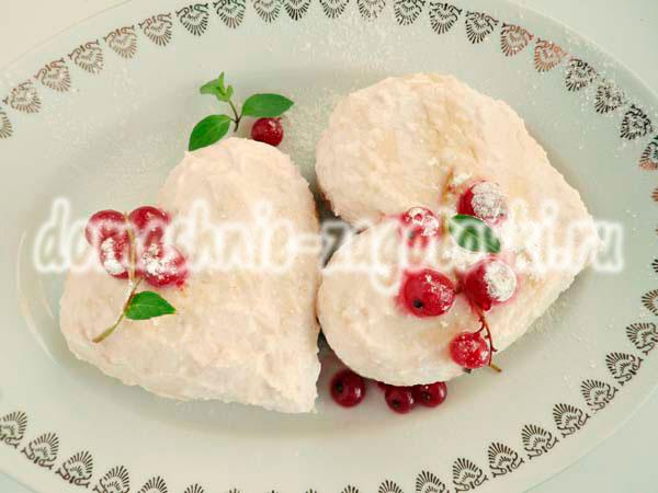 пирожное в виде сердца