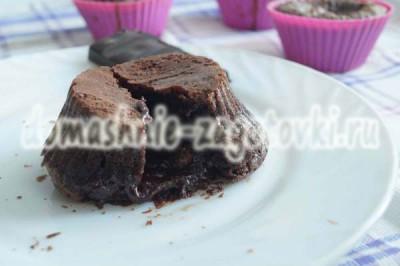 шоколадный фондан с жидким центром пошаговый рецепт