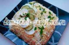 Слоеный салат с крабовыми палочками и сыром