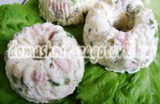 Заливное Оливье, вариация знаменитого салата