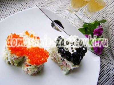 салат на день влюбленных