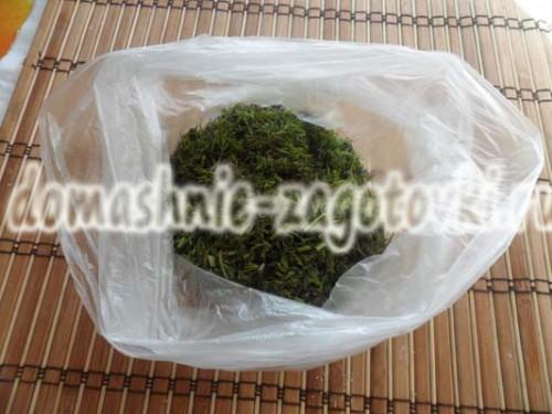 зелень в пакете