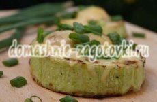 Нежные кольца кабачков с фаршем в духовке под сырной корочкой