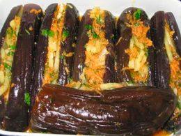 фаршированный баклажаны морковью по-корейски
