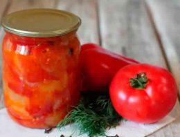 Миниатюра к статье Лечо из помидор, заготавливаем на зиму вкусную закуску