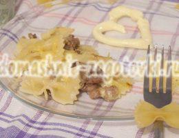 рецепт макарон с мясом и сыром
