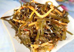 Миниатюра к статье Заготовка морской капусты по-корейски
