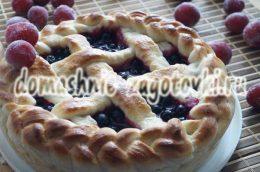 Миниатюра к статье Пирог с черноплодной рябиной, рецепт ароматной выпечки
