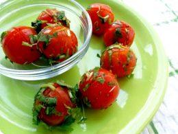 Миниатюра к статье Заготовка маринованных помидор быстрого приготовления