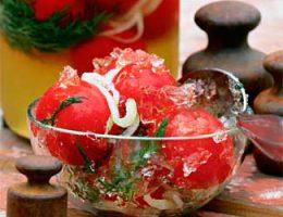 помидоры в желе рецепт