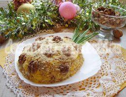 салат ананас с орехами