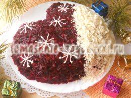 Миниатюра к статье Новогодний салат «Рукавичка деда Мороза»