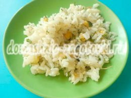 Миниатюра к статье Очень простой салат с рисом и кукурузой