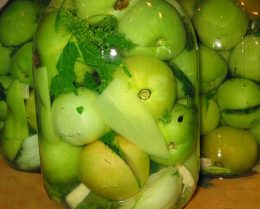 рецепт засолки зеленых помидор